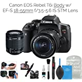 Canon EOS Rebel T6i Digital SLR Camera (Wifi Enabled) w/EF-S 18-55mm f/3.5-5.6 IS STM Lens + DigitalAndMore Deluxe Camera Cleaning Solution