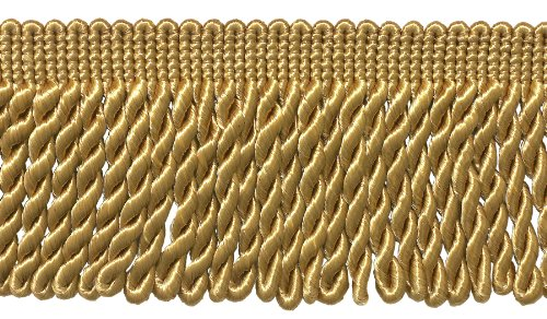 DÉCOPRO 7 Yard Pack - 3 Inch Long Gold Bullion Fringe Trim, Style# BFS3 Color: C4 (21 Ft / 6.4M)