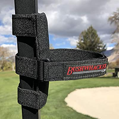 Bushwhacker Portable Speaker Mount for Golf Cart Railing - Adjustable Strap Fits Most Bluetooth Wireless Speakers Attachment Accessory Holder Bar Rail by Bushwhacker