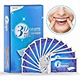 Terresa Teeth Whitening Strips - 28 Pieces 3D Teeth Stain Remover, Mint Flavor Freshen Breath, 14 Treatment, 30 Minutes Express, Non-Slip Tooth Bleaching Gel Strip for Sensitive Teeth