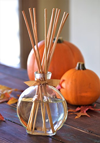 MINX Fragrances Sale! Harvest Pumpkin Spice Reed Diffuser Gift Set | Spicy Autumn Smell | Fresh Pumpkin Pie | Cinnamon Ginger and Nutmeg scent | Filled in Beautiful Autumn Holiday bottle. by MINX Fragrances