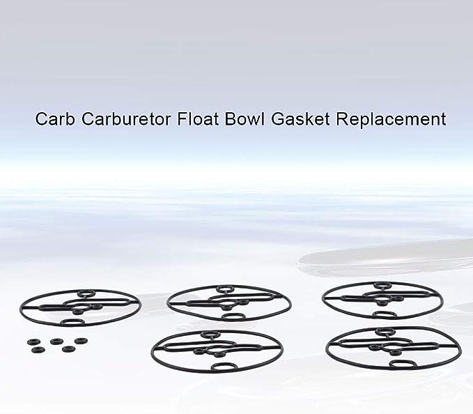 5 pezzi Sostituzione guarnizione guarnizione galleggiante carburatore carb adatto per Briggs /& Stratton 698781 parte falciatrici da Sostituzione guarnizione guarnizione galleggiante carburatore carb