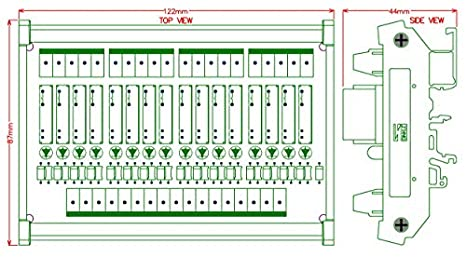PA1a-5V ELECTRONICS-SALON delgado montaje en carril DIN DC5V fregadero//NPN 4 SPST-NO 5 A poder M/ódulo de rel/é