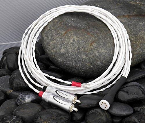 Nerve Audio Axon 24 2.5 meter Tonearm Cable Silver Plated Copper Cardas DIN RCA