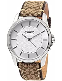 Womens 14601506 Classic Signature Fabric Leather Strap Oversized Watch