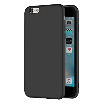 AICEK Funda iPhone 6S, Negro Silicona Fundas para iPhone 6S ...
