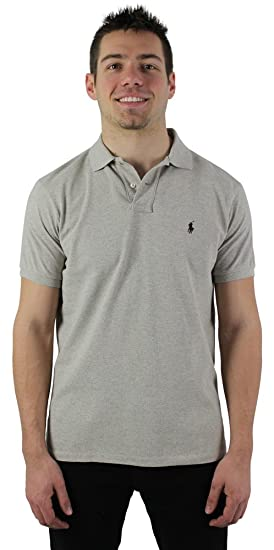 636f4313 Polo Ralph Lauren Men's Custom Fit Mesh Polo Shirt Beige Size L at ...