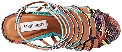 Sandalia Steve Madden Slithur en piel blanca Multi Snake