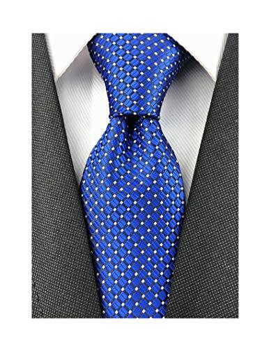(Men Royal Blue Neckties Vintage Silk Cravat Woven Leisure Fashion Designer brand Ties)