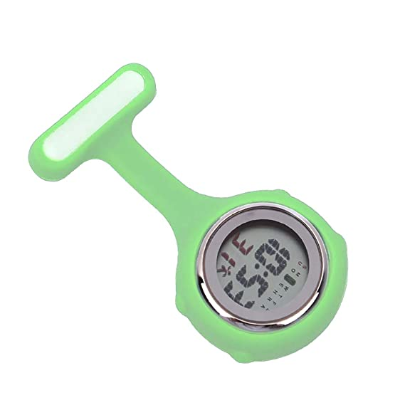 Rosepoem Colorido Reloj multifunción Digital de Caucho de Silicona para Enfermera Reloj Rosa: Amazon.es: Relojes