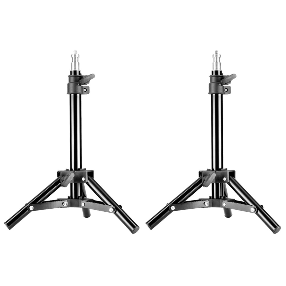 Neewer Mini Set of Two Aluminum Photography Back Light Stands with 32''/80cm Max Height for Relfectors, Softboxes, Lights, Umbrellas, Backgrounds