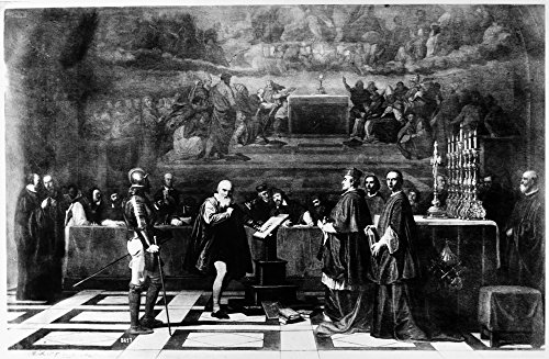 Galileo Galilei (1564-1642) Nitalian Astronomer And Physicist Galileo Before The Holy Office 1633 Oil On Canvas By Tony Robert-Fleury 1847 Poster Print by (24 x 36)