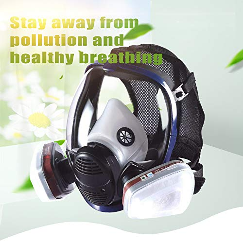Phoenixfly99 Organic Vapor Full Face Respirator Safety Mask With Visor Protection For Paint, chemicals, polish (6800 Full face respirator+1 Pair 3# Filter) by Phoenixfly99 (Image #3)