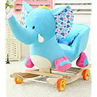 Tickles Elephant Plush Baby Rocking Chair Children Wood Swing Seat Kids Outdoor Ride on Rocking Cradle Toy 50 cm