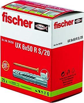 FISCHER 094758 - Taco nylon UX 6x35 R S/20 (Envase de 25 ud.)
