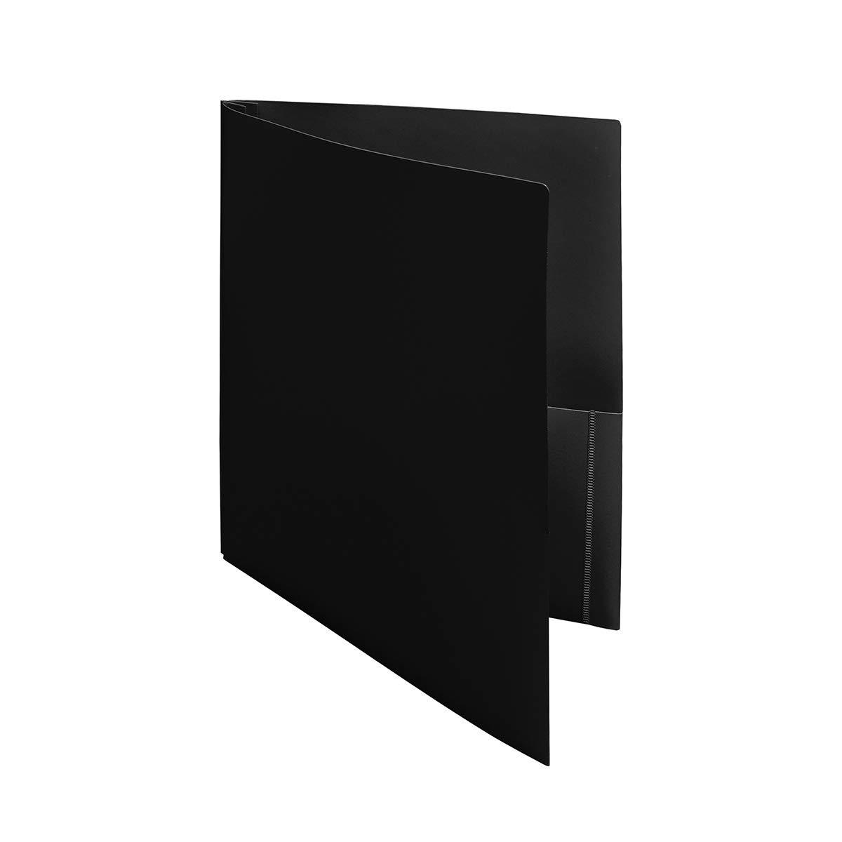 Ultra Pro - 10 Pack, BLACK 2-Pocket Folders with 3-Prong Fastener