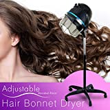 Professional Floor Hooded Hair Bonnet Dryer Stand Up Hair Dryer W/Rolling Wheels