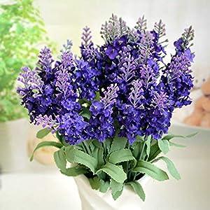 MZjJPN Romantic Provence Lavender Flower Silk Artificial Flowers Plants Fake Artificiales Flores Wedding Home Garden Table Decoration 94