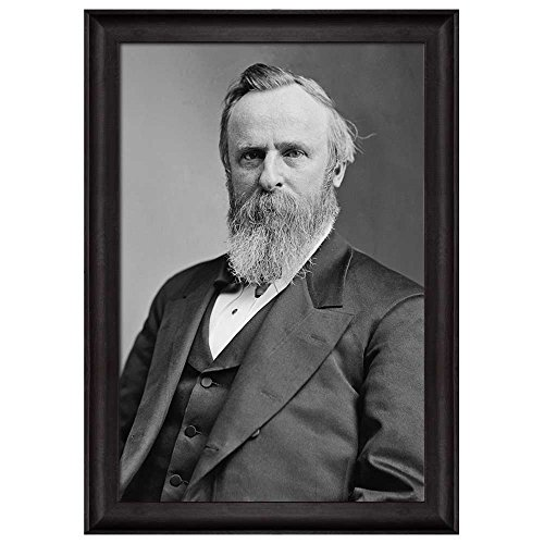 Portrait of Rutherford B Hayes (19th President of the United States) American Presidents Series Framed Art Print