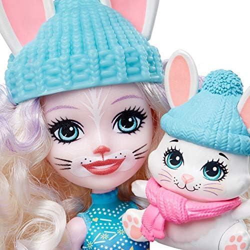 Enchantimals GXB20 - Enchantimals 5-delige poppen- en dierenvriendjesset met Felicity Vos, Bevy Konijn, Rainey Rendier en meer.