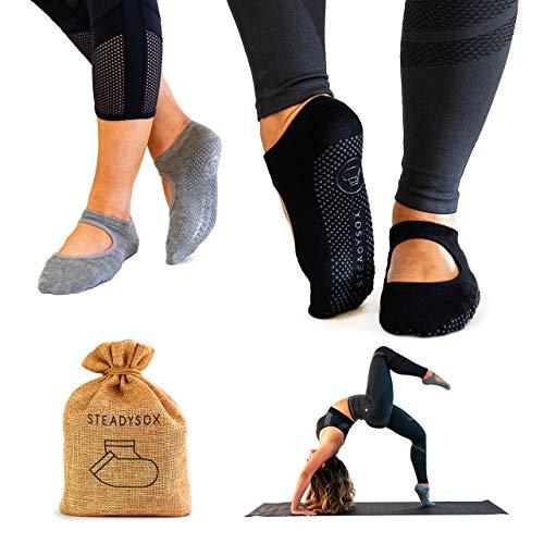 - SteadySox Yoga Socks for Women Non-Slip Grip Socks for Pilates, Barre, Hospital, Dance & Workout