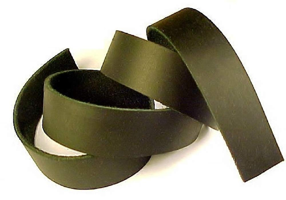 1.6cm x 210cm BLACK OIL TANNED Leather Strip 5-180ml LeatherRush B01AFONS86