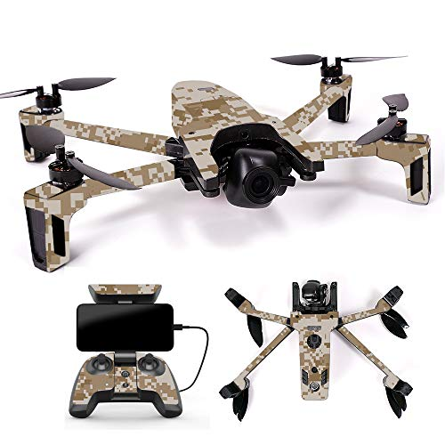 MightySkins Skin for Parrot Anafi Drone - Desert Camo | Protective, Durable, and Unique Vinyl Decal wrap Cover | Easy to Apply, Remove, and Change Styles | Made in The USA