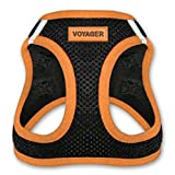 Voyager All Weather No Pull Step-in Mesh Dog Harness with Padded Vest, Best Pet Supplies, Small, Orange