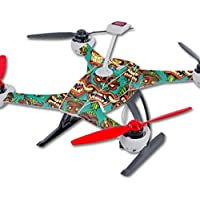 Skin For Blade 350 QX3 Drone – Crazy Tikis | MightySkins Protective, Durable, and Unique Vinyl Decal wrap cover | Easy To Apply, Remove, and Change Styles | Made in the USA