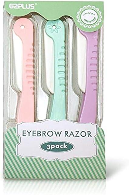 G2Plus 3 Packs recortadores para cejas, vello facial para mujer ...