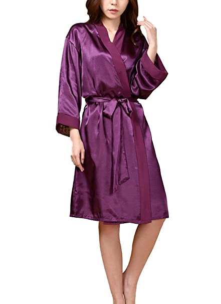GGTFA Mujeres Kimono Batas De Albornoz Vestido De Ropa De Dormir para SPA Fiesta De Cumpleaños De La Boda: Amazon.es: Ropa y accesorios