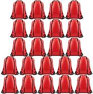 TUPARKA 22 Pack Drawstring Bags String Backpack Bulk Tote Sack Cinch Bag Sport Bags for Gym Traveling