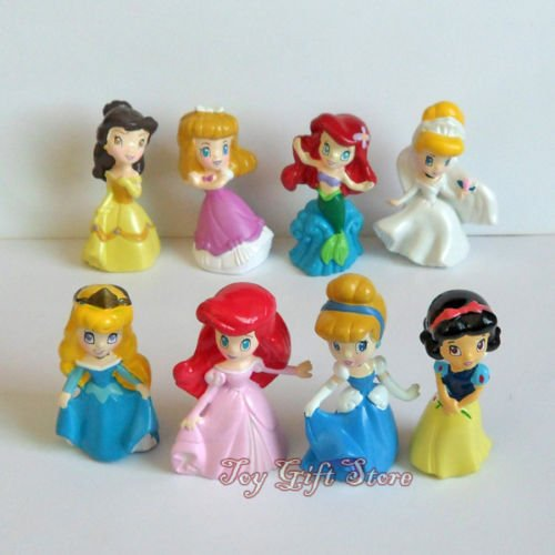 Cute 8 pcs Disney Princess Mini Figure Doll