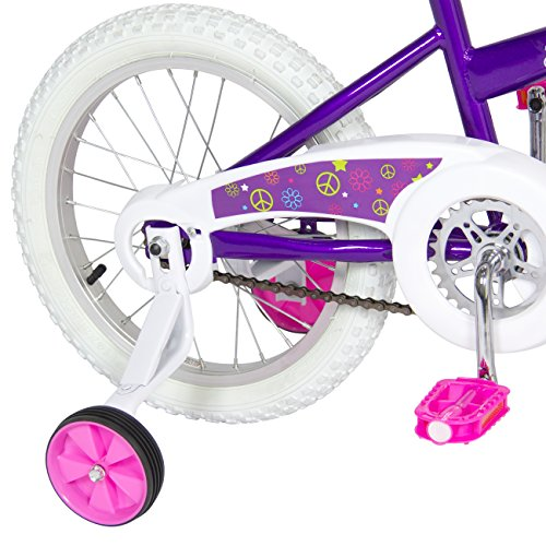 BCP 16'' Girl's Purple Princess Bike W/ Training Wheels & Basket Kid's Bicycles by Best Choice Products (Image #2)