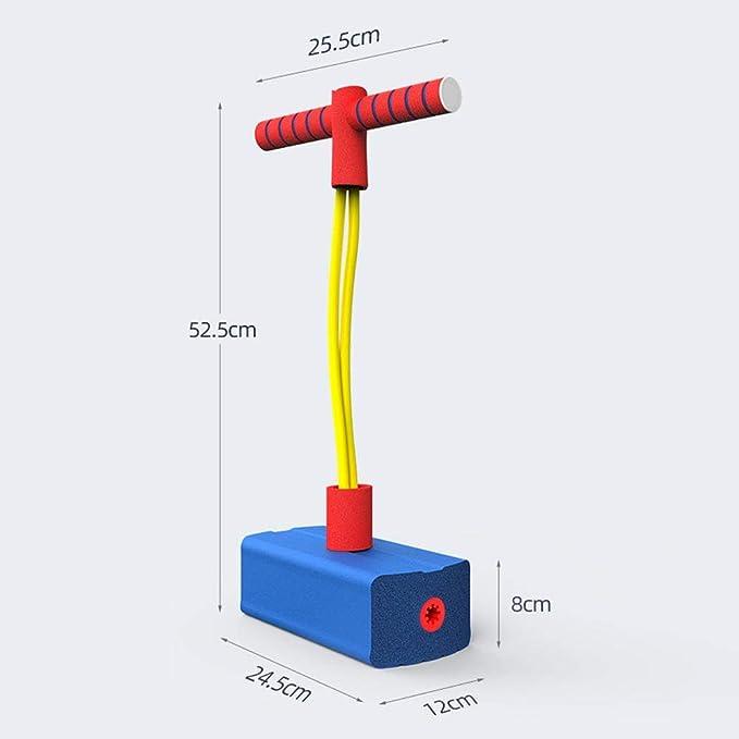 Yontree Puente de espuma Pogo para niños, seguro Pogo Sticks Bungee Jumper puede hacer sonido chirriante, divertido juego juguetes mejores regalos ...