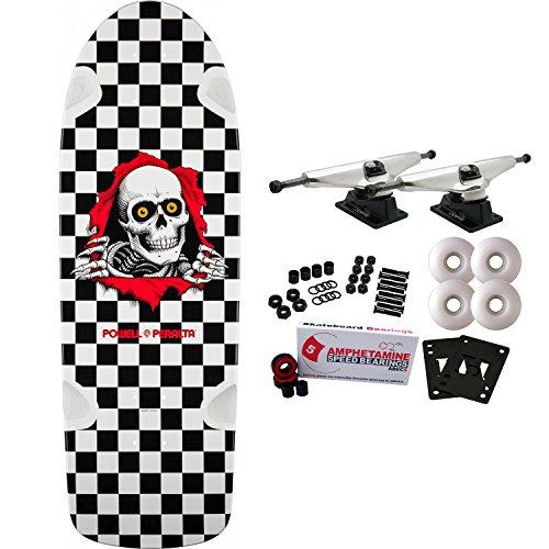 Checker Complete Skateboard (POWELL PERALTA Skateboard Complete OG Ripper Checker Re-Issue Old School)