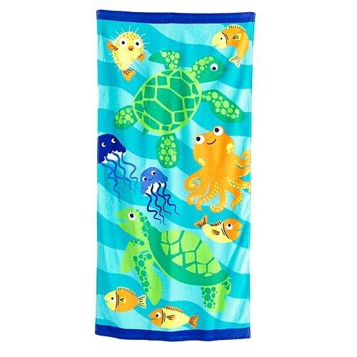 Jumping Beans Turtles & Friends Beach Towel
