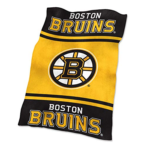 Boston Blanket Bruins (NHL Boston Bruins Ultrasoft Throw with Large Logo Blanket, Black, 54