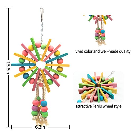 MEWTOGO Bird Parrot Chewing Foraging Toys for Conures African Grey Parrot Toy