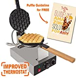 Puffle Waffle Maker Professional Rotated Nonstick (Grill / Oven for Cooking Puff, Hong Kong Style, Egg, QQ, Muffin, Cake Eggettes and Belgian Bubble Waffles) (110V, Puffle maker FY-6 Modernized)