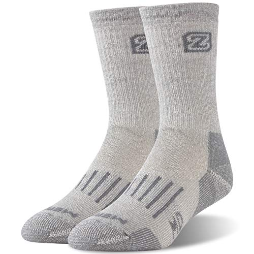 Heated Boot Thermal Socks,ZEALWOOD Merino Wool Hiking Socks Thermal Warm Crew Winter Sock Outdoor Socks Antibacterial Wicking Socks Crew Athletic Socks