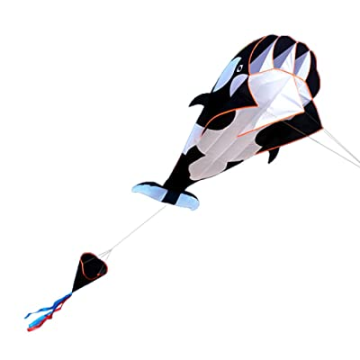 Lixada 3D Kite Huge Frameless Soft Parafoil Giant Whale Flying Kite: Sports & Outdoors