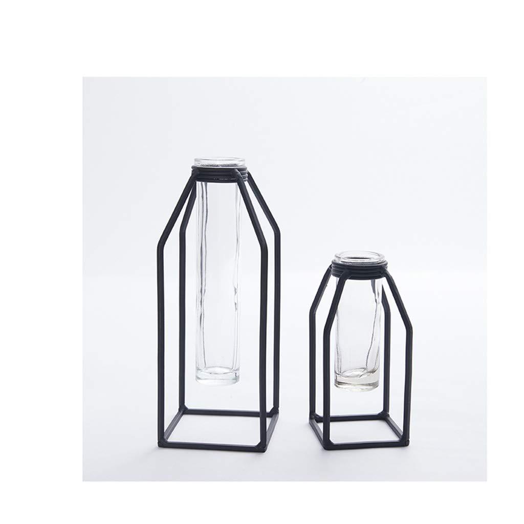 risparmia fino al 50% SHWSM Fiore Cornice Nordic Metallo in Ferro battuto provetta di di di Vetro Fiore Stand Decorazione della casa Ornamenti Neri Stand di Fiori (Dimensioni   B High 20CM)  bellissimo