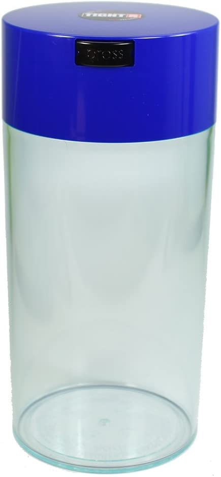 Tightvac - 5oz to 24 Ounce Vacuum Sealed Container - Blue Cap & Clear Body