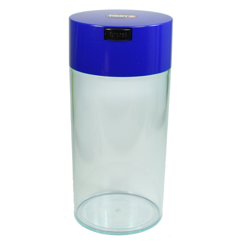 Tightpac America 1-1/2 Pound Vacuum Sealed Dry Goods Storage Container, Black Body/Dark Blue Cap Tightpac America Inc TV5-SDB