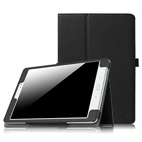 Fintie Folio Case for Samsung Galaxy Tab 3 10.1, Slim Leather Case for Samsung Galaxy Tab 3 10.1 inch Tablet Auto Sleep/Wake Book Style Stand Cover with Stylus-Loop - Black (Samsung 10 3 Tablet Case Inch)