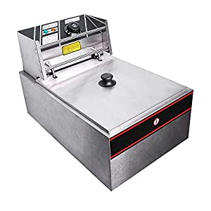 FCH 2500W 6L Electric Countertop Basket Stainless Steel French Deep Fryer for Commercial Restaurant Kitchen