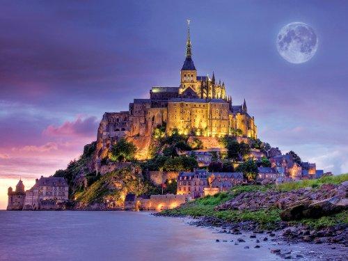 Buffalo Games Majestic Castles - Mont Saint Michel France - 750 Piece Jigsaw Puzzle by Buffalo Games