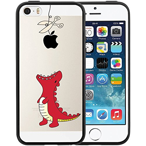 iphone-se-case-swiftbox-clear-black-case-with-design-for-iphone-5-5s-se-red-little-dinosaur