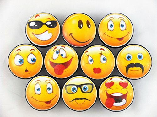 Set of 10 Cute Yellow Emoticons Cabinet Knobs